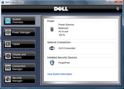 Dell controlpoint security manager