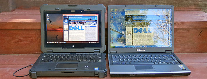 Again The Dell Has A Relatively Vibrant Contrasty Picture Whereas Standard Laptop Not Only