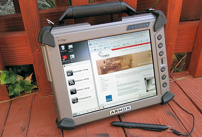 Rugged Pc Review Com Slates And Tablet Pcs Drs Armor X10gx